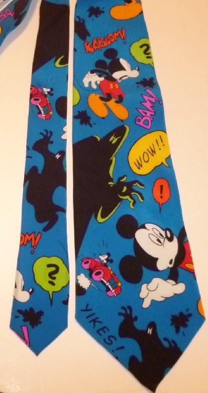 MICKEY MOUSE cartoon colorful silk Neck Tie NeckTie Disney Balancine Inc