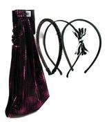 mstylelab Skinny Fashion Headbands & Wide Elastic Hair Wrap 4 Pc Set Bla... - $13.30