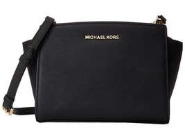 MICHAEL KORS Selma Meidum Saffiano Leather Cros... - $158.00