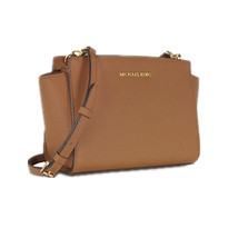 MICHAEL KORS Selma Meidum Saffiano Leather Cros... - $165.00