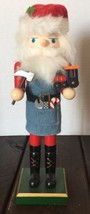 Santa Clause Workshop Wooden Nutcracker Hammer Toys Holiday Decoration - $32.71