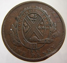 1837 ANTIQUE CANADA COIN over 170 Years Old Canadian Province One Penny ... - $9.99
