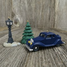 Vintage Car Street Lamp Tree Ornament Hallmark Nostalgic House Village C... - $31.99