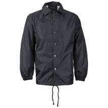 Renegade Men's Lightweight Water Resistant Button Up Windbreaker Coach Jacket image 2