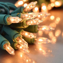 Case of Incandescent Christmas Light String 100 ct Clear 2400 bulbs/24 strings - $169.00