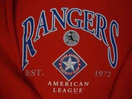 Vintage MLB Texas Rangers Baseball Red Sweatshirt L - $26.72