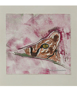Tabby Cat Art Monotype Solomon - $38.00