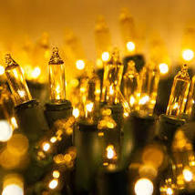 Case of Incandescent Christmas Light String 100 ct Yellow 2400 bulbs/24 ... - $169.00