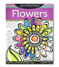 Zenspriations Flowers Coloring Book - $8.99