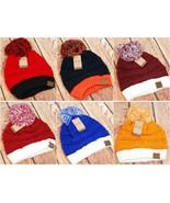 CC Beanie Two-Tone Solid Beanie Hat Cap w/ Pom - UGA, Kentucky, Auburn, ... - $15.99