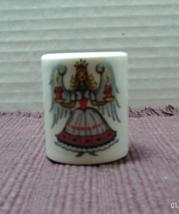 Vintage FUNNY DESIGNS W. Germany CHRISTMAS Round Pillar Candlestick Holder - $4.50