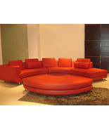 Modern Style Curved Leather Sectional Sofa 4 Pieces. Model: LF-4522-RED - $2,499.00