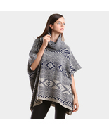 Boho Aztec pattern turtleneck tunic poncho  - $39.99