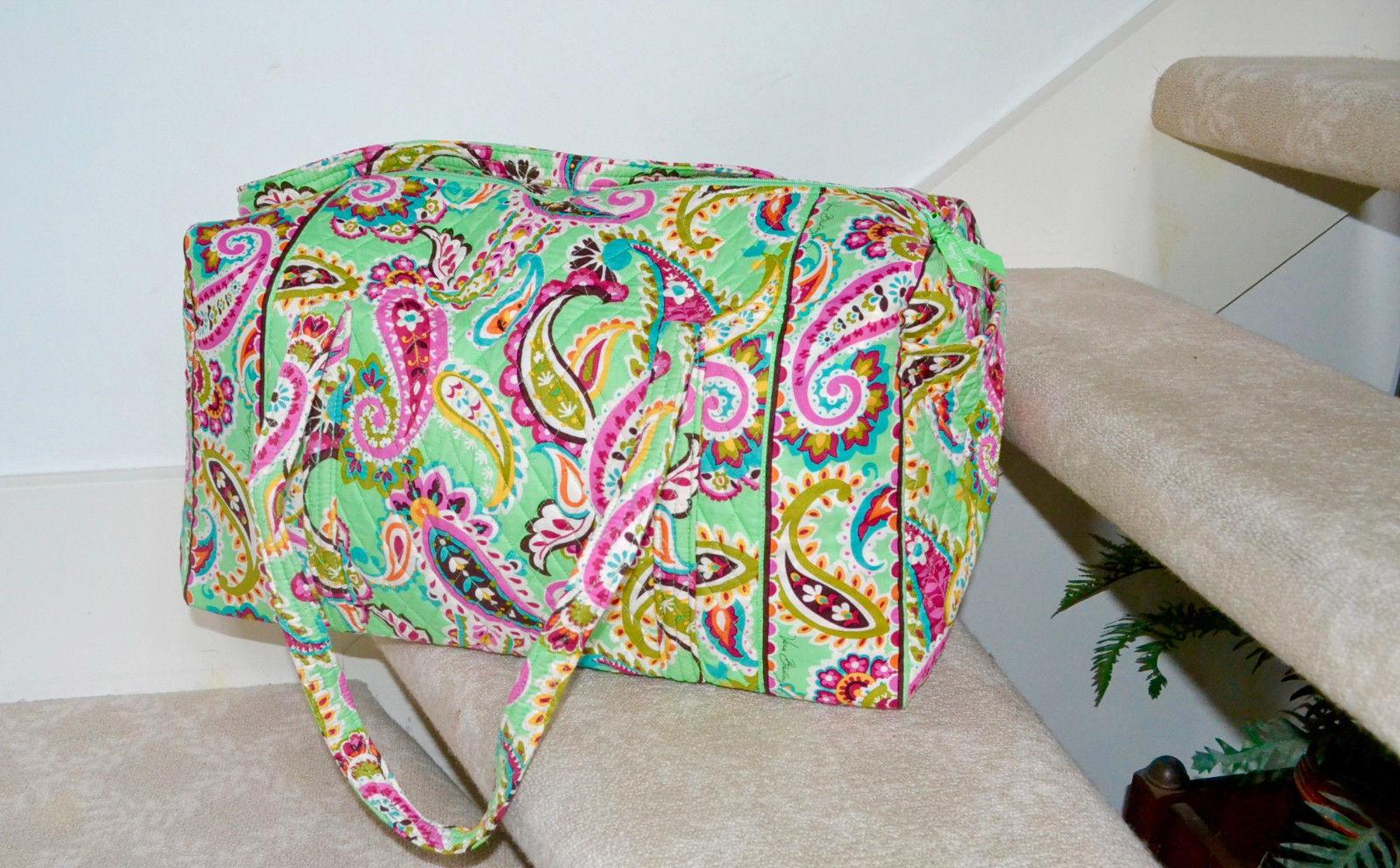 NWT $85 Vera Bradley - Large Duffel Bag WEEKENDER Tutti Frutti Green Print