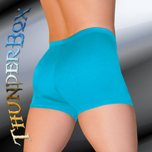 ThunderBox Nylon Spandex Mens Womens Turquoise Gladiator Shorts Casual S... - $20.00