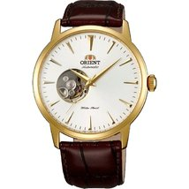 Orient FDB08003W0 40mm Automatic Gold Plated Stainless Steel Case Brown Calfs... - $189.14