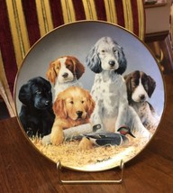 Franklin Mint Heirloom Decorative Plate 'School Daze' James Killen Dogs ... - $23.36