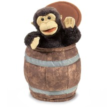 Folkmanis Monkey in Barrel Hand Puppet - $23.16