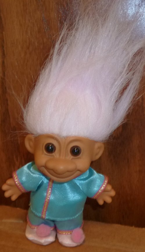 """Russ Trolls TROLL Doll CHINESE lady wearing top, pants, & shoes 5"""""""