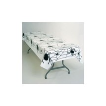 2 plastic tablecovers full coverage Spider Webs table cloths 54 x 108 - $7.91