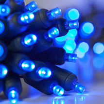 100 count 5 mm LED Christmas Light String Blue Color - $22.72