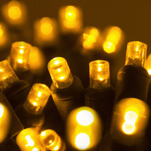 100 count 5 mm LED Christmas Light String Yellow Color - $22.72