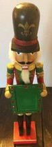Soldier Picture Frame Talk Military Wooden Nutcracker Holiday Decor Gems - $93.49