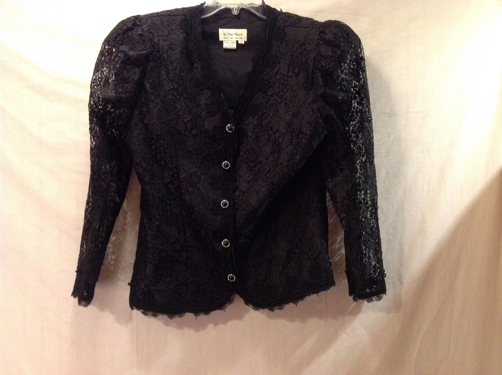 Used Great Condition In The Mood Black Floral Buttoned Shirt Size 12