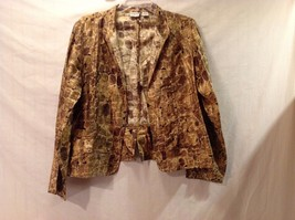 Used Great Condition Chico's 100% Silk Size 2 Tortoise Shell Pattern Shirt