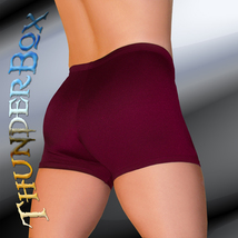 ThunderBox Nylon Spandex Mens Womens Burgundy Gladiator Shorts Casual S M L XL - $20.00