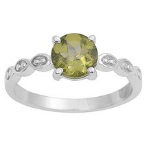 Awesome Looking Peridot Gemstone 925 Sterling Silver Ring For Party - $14.84