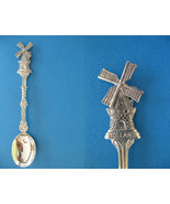 HOLLAND Souvenir Collector Spoon J.O. Alpacca DUTCH WINDMILL Collectible - $6.95