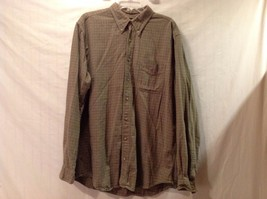 Used Great Condition Eddie Bauer 100% Cotton Tall Large Olive Red White Checker