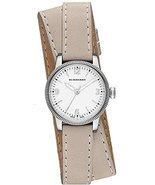 Burberry Silver Dial Stainless Steel Tan Leathe... - $294.87