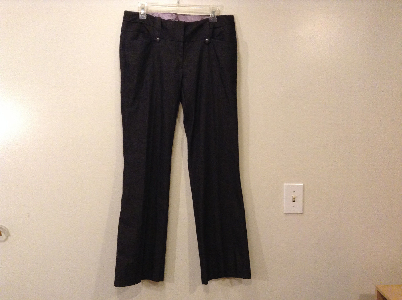 Juniors Girls Stooshy Dark Gray Dress Pants Size 9 Cotton Polyester Spandex