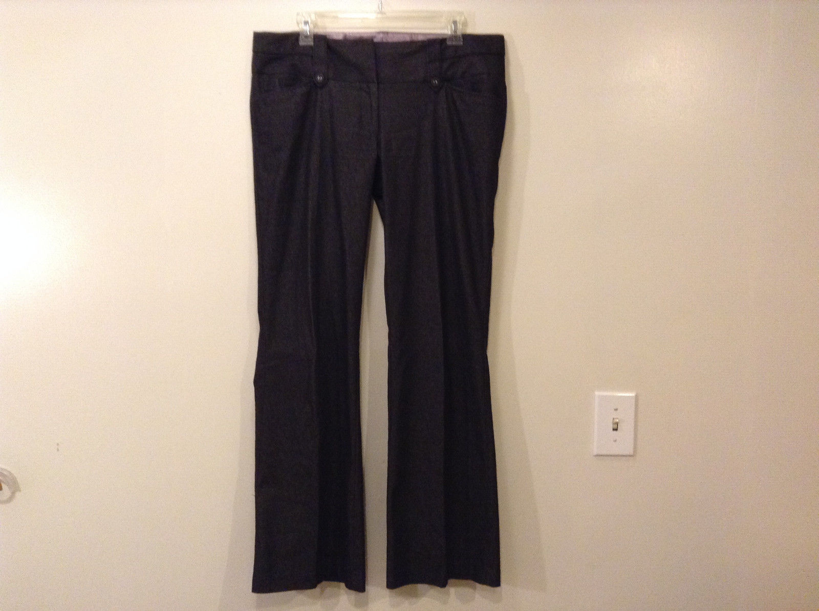 Juniors Girls Stooshy Dark Gray Dress Pants Size 11 Cotton Polyester Spandex