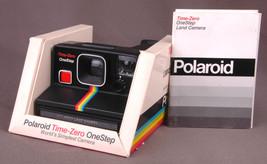 Polaroid Time-Zero OneStep w Box/Instructions-Rainbow Stripe-Instant Cam... - $93.49