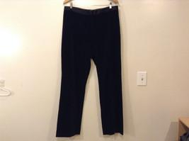 Lauren Ralph Lauren Ladies Black Velvet Evening Pants Size 12 Satin Waist Trim image 1