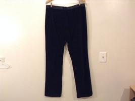 Lauren Ralph Lauren Ladies Black Velvet Evening Pants Size 12 Satin Waist Trim image 2