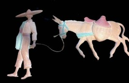 Vintage Metal Mexican Man and Mule Wall Hangings - Southwestern Decor - $25.00