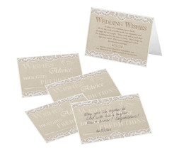 Set of 48 country lace design guest signing cards wedding guest book alt... - $8.42