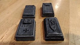 Tomb Covers - Set of 4- 28mm Scale pre Painted Dungeon Game Terrain Accessories