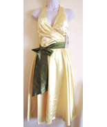 NWT POLY USA HALTER FORMAL EVENING PROM COCKTAIL DRESS,SZ XS X-SMALL,YEL... - $57.70