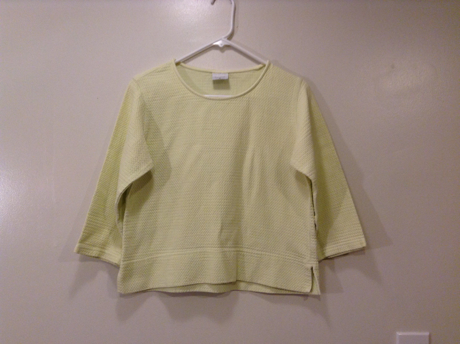 C.M.C. by Color Me Cotton Very Light Yellow/Green Blouse T-shirt, Size M