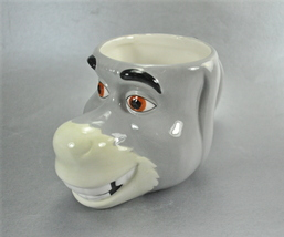 Shrek 2 Donkey 3D Galerie Mug Cup Dream Works Ceramic - $12.99