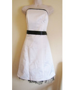 NWT POLY USA STRAPLESS FORMAL EVENING PROM DRESS,SZ 11/12 LARGE,OFF WHIT... - $57.70