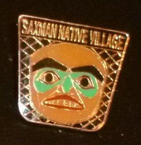 "Saxman Native Villge PIN 0.75"""