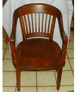 Quartersawn Oak Courthouse Armchair / Banker Ch... - $399.00