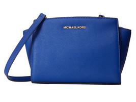 MICHAEL KORS Selma Meidum Saffiano Leather Cros... - $165.00