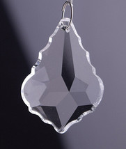100Pcs/lot 38MM Crystal Maple Leaf Prism Parts Pendant For Chandelier Hanging - $61.20